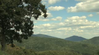 Scattered Clouds over Appalachian Mountains