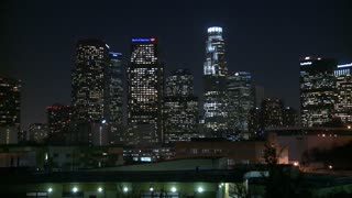 Scenic Downtown LA Night Timelapse