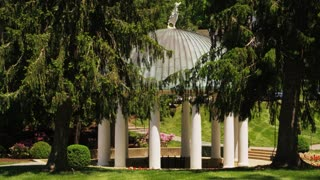 Scenic Gazebo By Trees