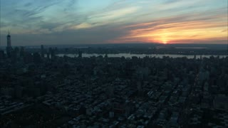 Scenic Manhattan Sunrise Cityscape