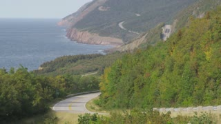 Scenic View Along Coastal Highway