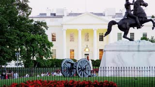 Scenic White House Lawn