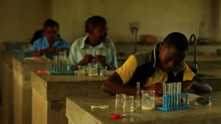 School Boy Doing Chemistry in Kenya 2