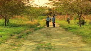 School Boys Walking Home in Kenya