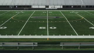 School Football Field Midfield
