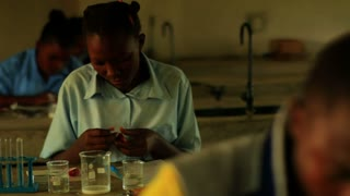 School Girls Doing Chemistry in Kenya 2