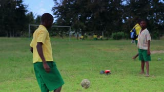 School Soccer Match During Recess in Kenya 9