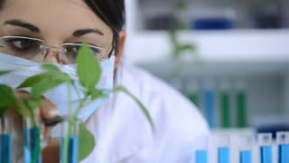 Scientist conducting research in laboratory for fossil fuel