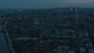 Scouring New York City Skyline Aerial