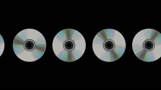 Scrolling CDs or DVDs Transparent Alpha Channel Loop