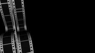 Scrolling Film Strip 3 Transparent Alpha Channel Loop