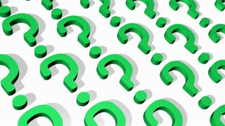 Scrolling Green Question Marks