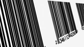 Scrolling Row of Barcodes