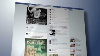 Scrolling Through Facebook Site
