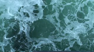 Sea green water with white waves 1