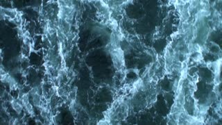 Sea green water with white waves 5