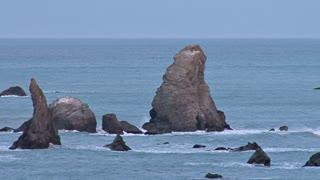 Sea Stack Rocks Off Coastline