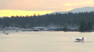Seaplane Arriving During Sunset 2