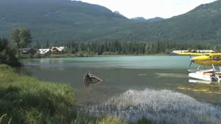 Seaplanes By Mountain Landscape 2