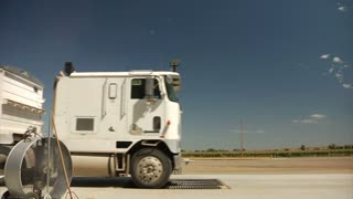 Semitruck Drives By Electric Fans