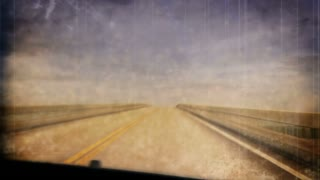 Sepia POV Driving Country Roads