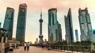 Set 5 in 1 clips / Time lapse. China. Shanghai.