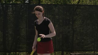 Several Back to Back Tennis Serves
