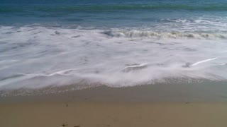 Shallow Beach Waves Timelapse