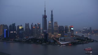 Shanghai Pudong River Skyline