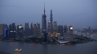 Shanghai River Night Skyline Time-Lapse