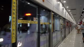 Shanghai Subway Train Arriving