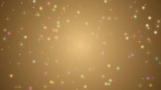 Shimmering Colour Stars in motion background, abstract light and dust particles