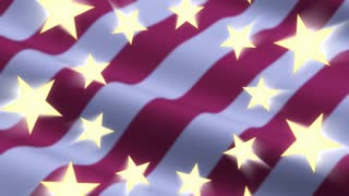 Shining Stars On Flag