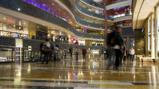 Shoppers inside a new modern store in Pudong district, Shanghai, China, Asia, T/Lapse