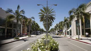 Shoppers on Rodeo Drive, Beverly Hills, Los Angeles, California, United States of America, North America, T/lapse