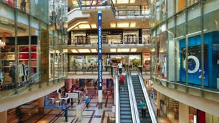 Shopping center interior, Prague, Czech Republic, Europe