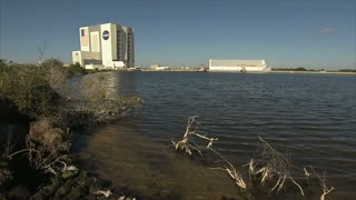 Shoreline View of NASA Building