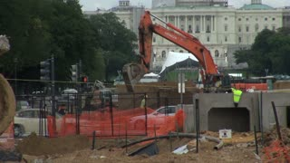 Shovel Digger Working in Front of Capitol 1