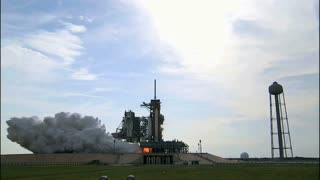Shuttle Lift Off From Launchpad