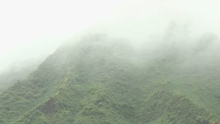 Side of Hawaii Mountain and Passing Fog