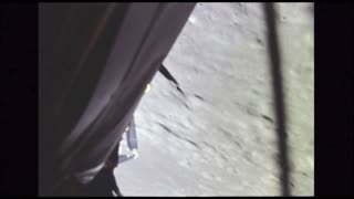 Side of Lunar Module Descending to the Moon