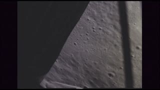 Side View of Leaving Moon Crater