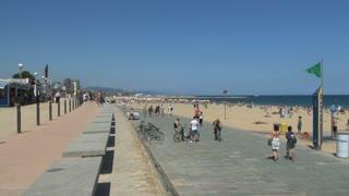 Sidewalk and Beach in Spain 2