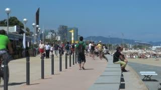Sidewalk and Beach in Spain 3