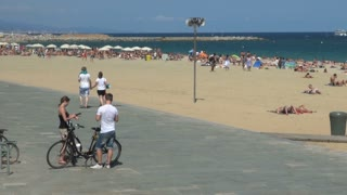 Sidewalk and Beach in Spain