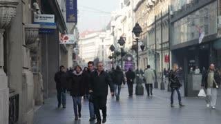 Sidewalk In European Country