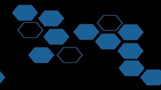 Sideways of Blue Hexagonal