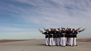 "Silent Drill Platoon and Blue Angels ""Fat Albert"""