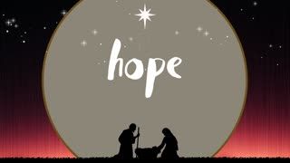 Silent Night Hope Christmas Title Text Background