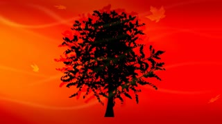Silhouetted Tree Warm